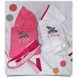 "Cape de bain ""CHATON NOEUD"""