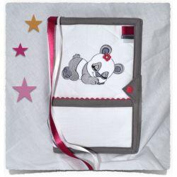 Body bébé personnalisé dentelle TORTUE CHAPEAU